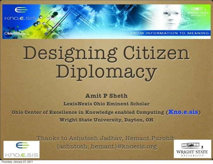 Semantic Social Mashup approach for Designing Citizen Diplomacy