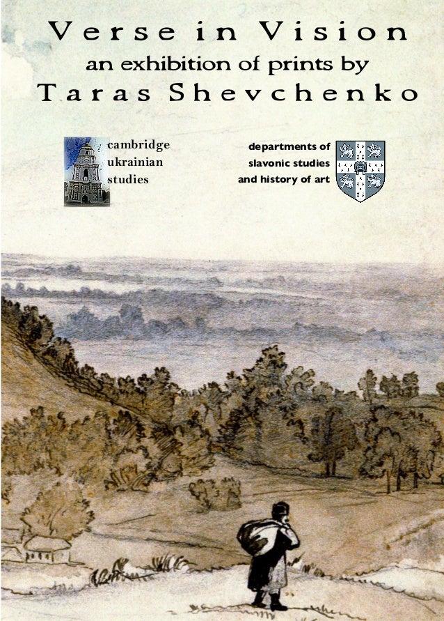 Verse in Vision an exhibition of prints by  Taras Shevchenko cambridge ukrainian studies  cambridge ukrainian studies  www...