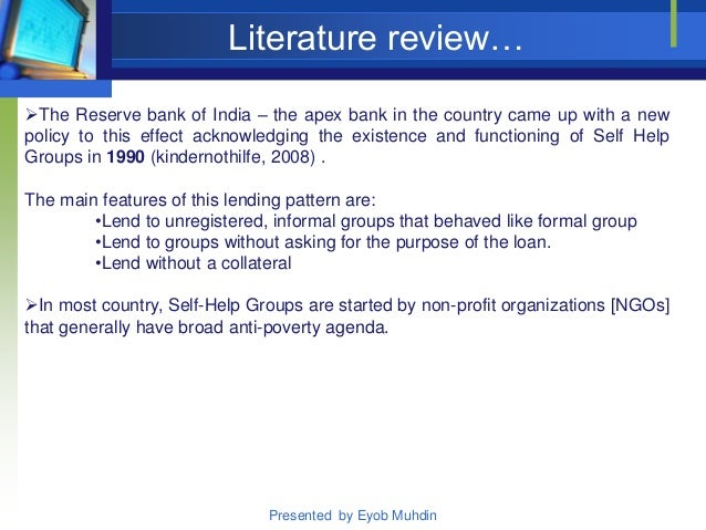 review of literature on microfinance Micro-finance literature review - dochas literature review based on work by eoin wrenn for trócaire, 2005 what is microfinance microfinance, according to otero.