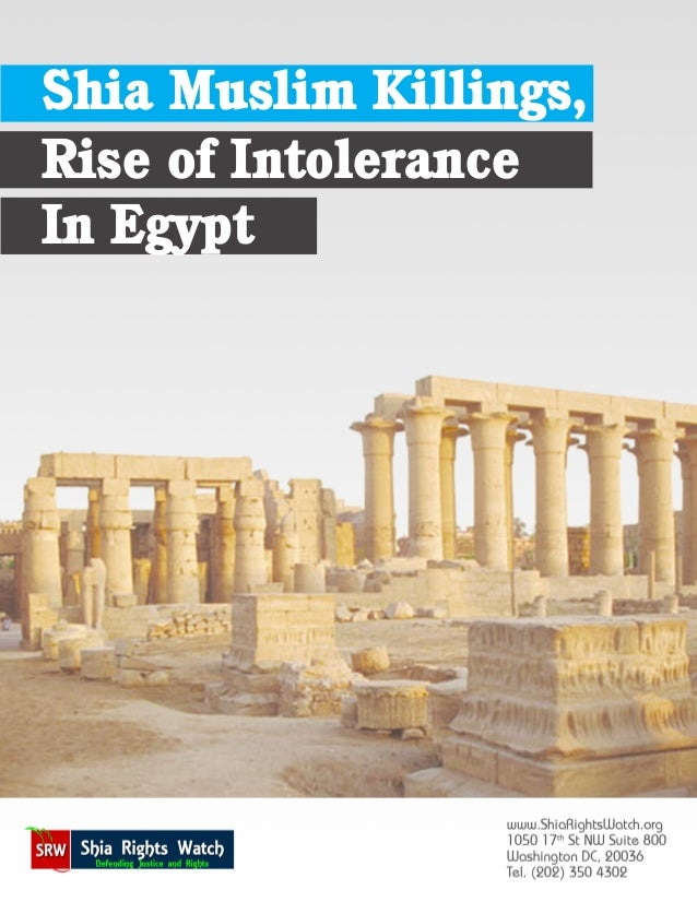 Shia muslims killing rise of intolerance in egypt