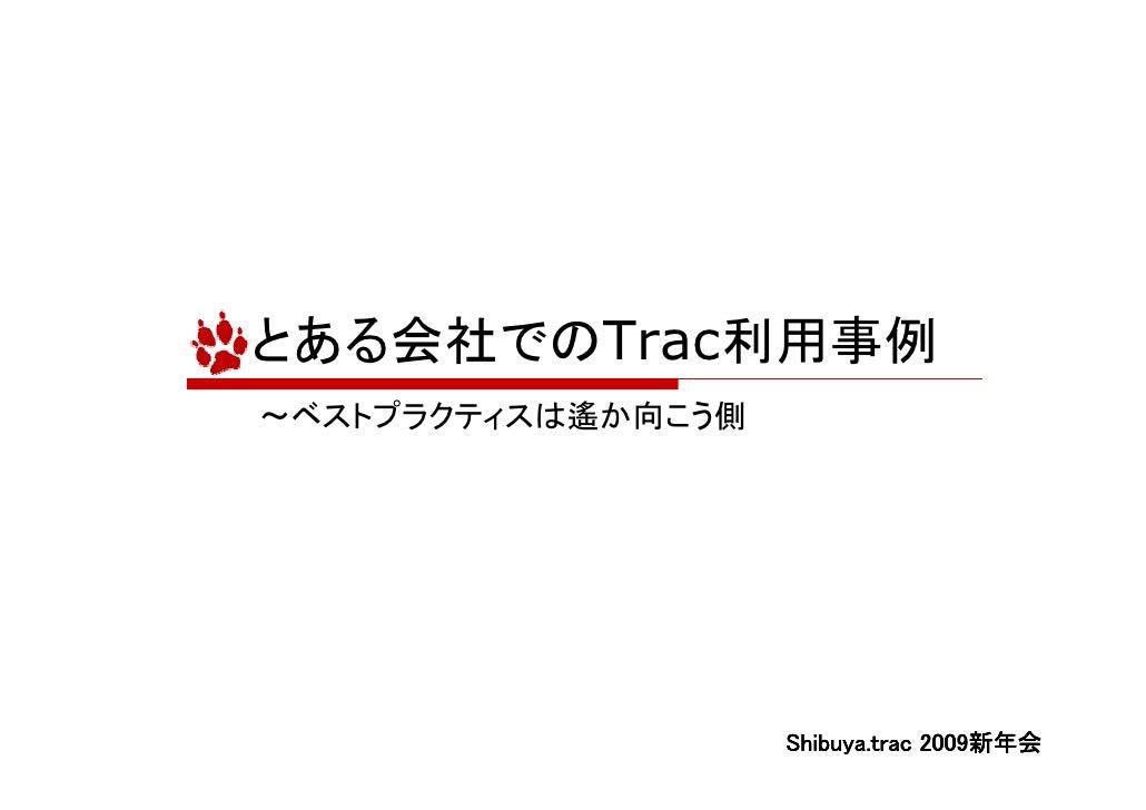 とある会社でのTrac利用事例 ~ベストプラクティスは遙か向こう側                                      2009新年会                     Shibuya.trac 2009新年会