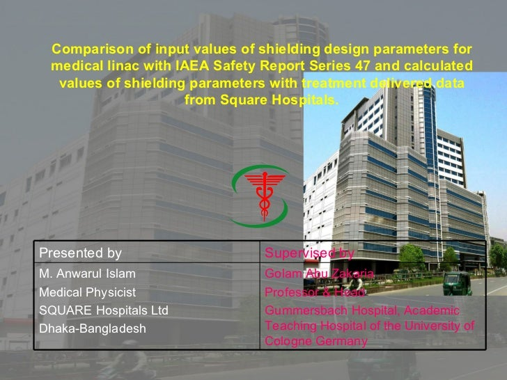 Comparison of input values of shielding design parameters for medical linac with IAEA Safety Report Series 47 and calculat...