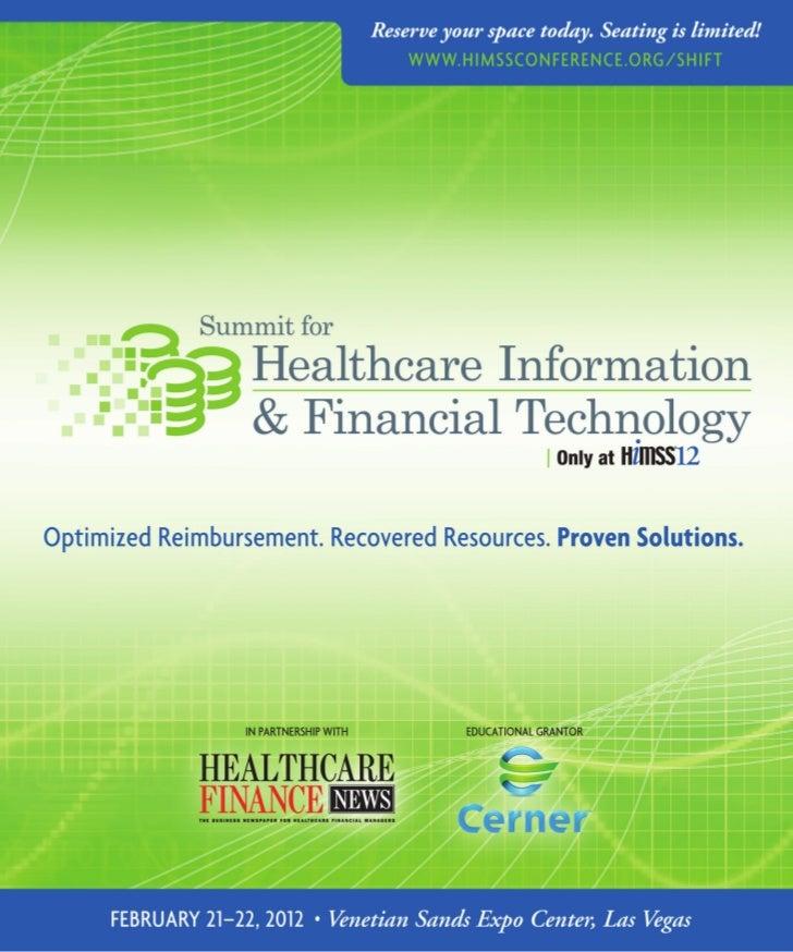 AccelerAte your revenue cycle, increAse      reimbursement, optimize business      processes And improve pAtient cAre.    ...