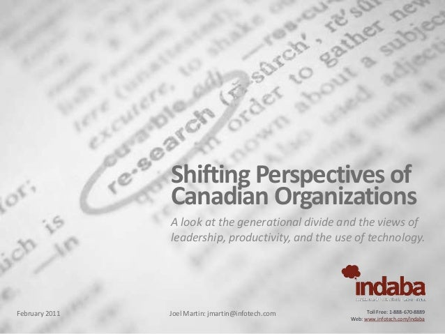 Shifting perspectives of Canadian organizations