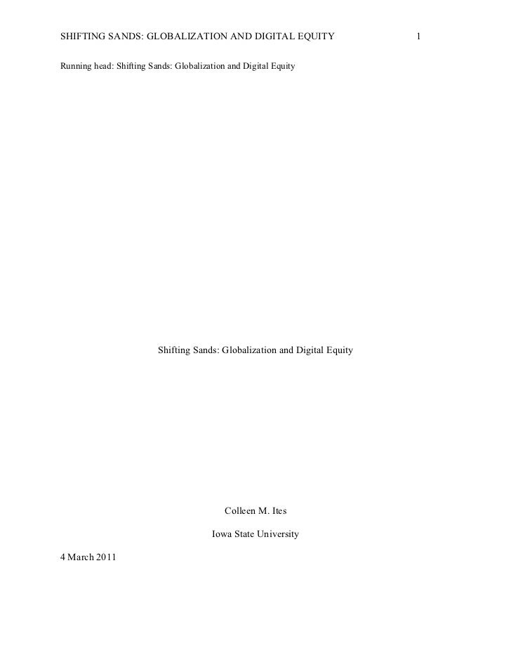 Shifting sands globalization and digital equity  ites midterm