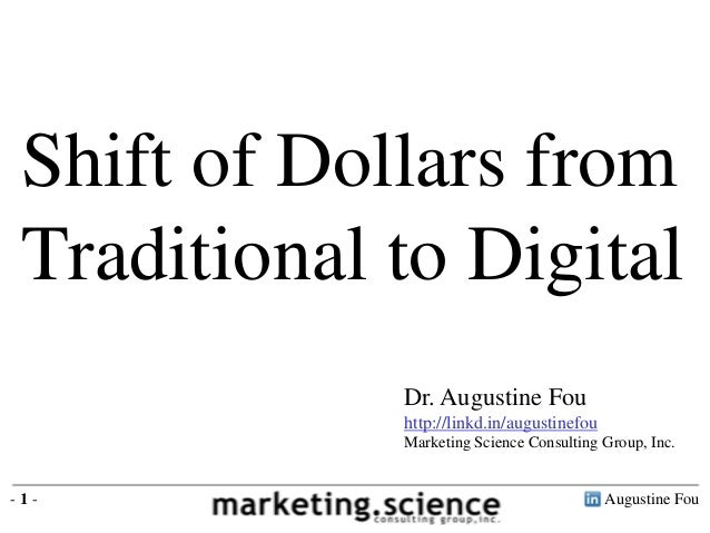 Shift of Dollars from Traditional to Digital by Augustine Fou