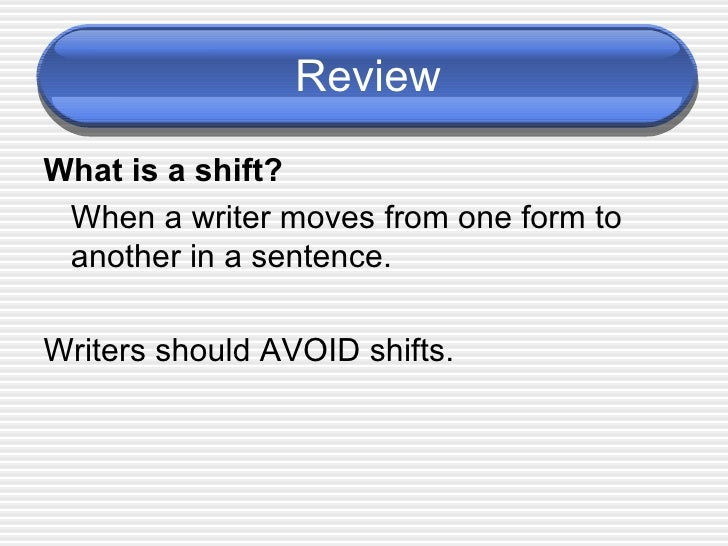 Shifts notes 2a powerpoint