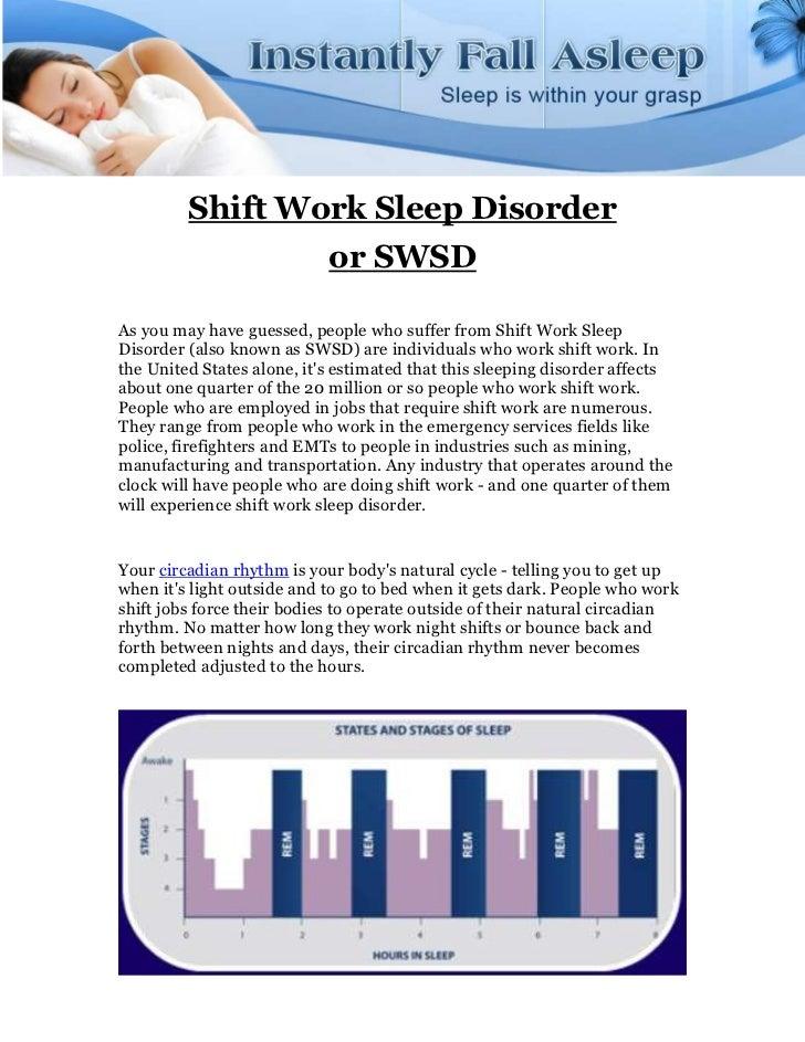 Shift work sleep disorder  or swsd