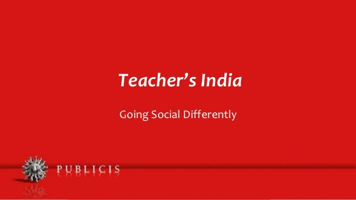 Teacher's India: Going Social Differently