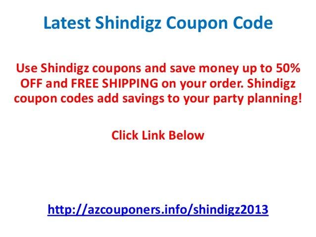 Shindigz Coupon Code April 2013 50% OFF May 2013