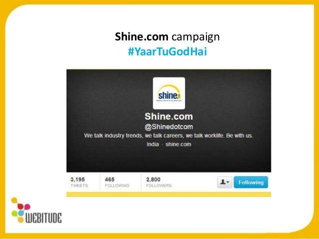 Shine.com Twitter Campaign