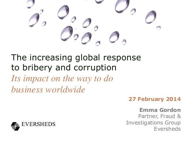 SHINE Webinar: Anti-bribery - the increasing global response to bribery and corruption