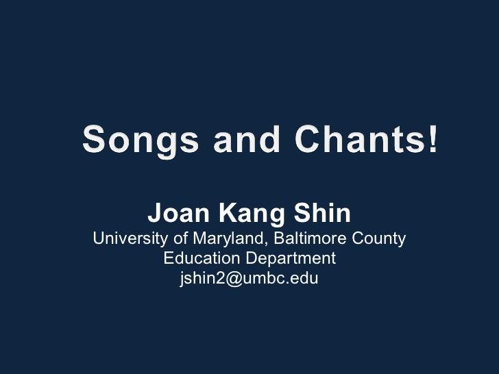 Joan Kang Shin University of Maryland, Baltimore County Education Department [email_address]