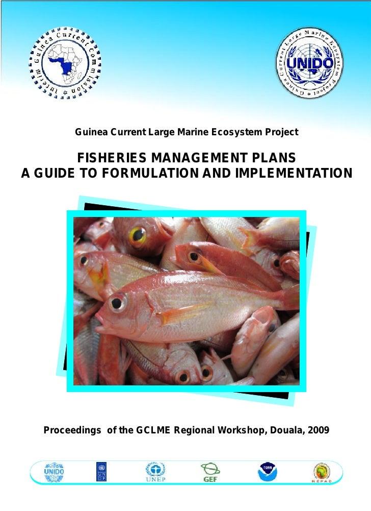 IGCC/GCLME FISHERIES MANAGEMENT PLANS