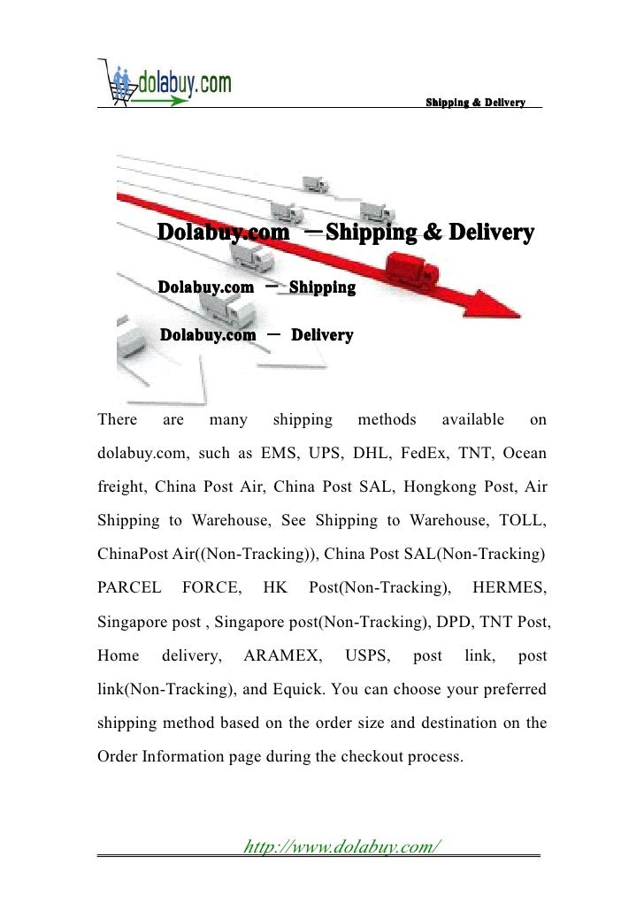 Shipping&delivery of dolabuy.com