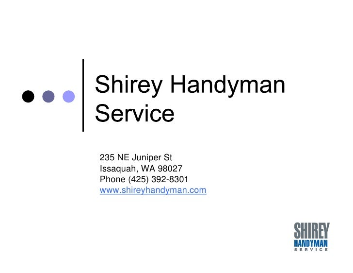 Shirey Handyman - who are we and what can we do for you ?