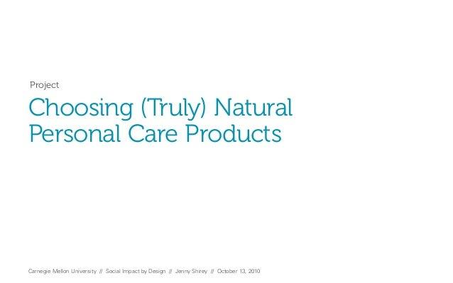 SIBD Natural Cosmetics Presentation 1