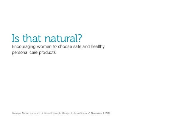 "SIBD Presentation 2: ""Is That Natural?"""