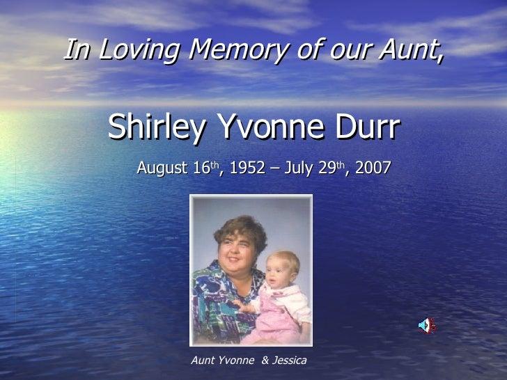 Shirley Yvonne Durr