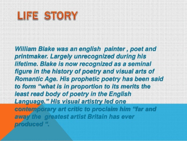 William Blake most famous poems