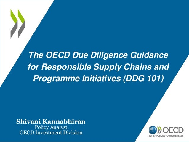 Introduction to the OECD Due Diligence Guidance for responsible mineral supply chains