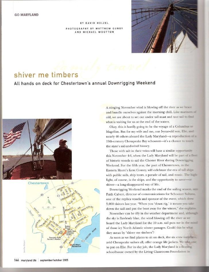 Shiver Me Timbers   Maryland Life