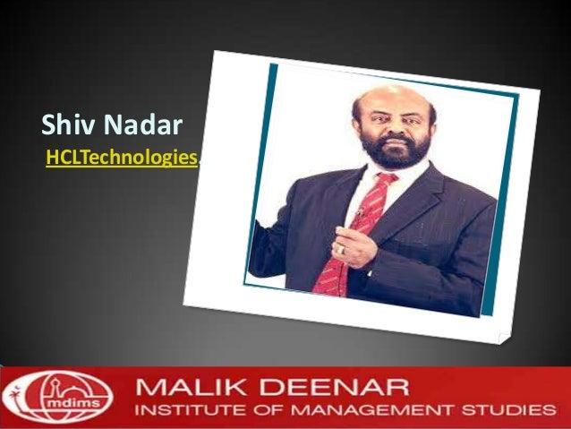 Shiv NadarHCLTechnologies.
