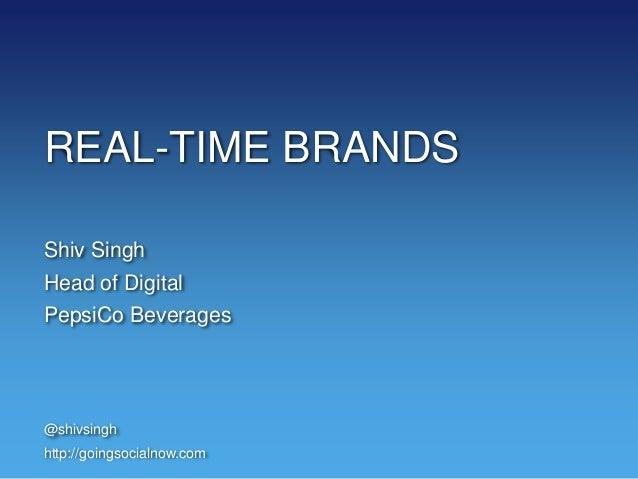 Shiv Singh, PepsiCo at #RLTM NY 11