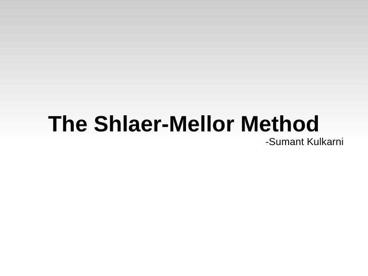 Shlaer mellor-method