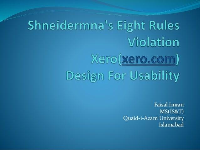 Shneidermna's eight rules violation