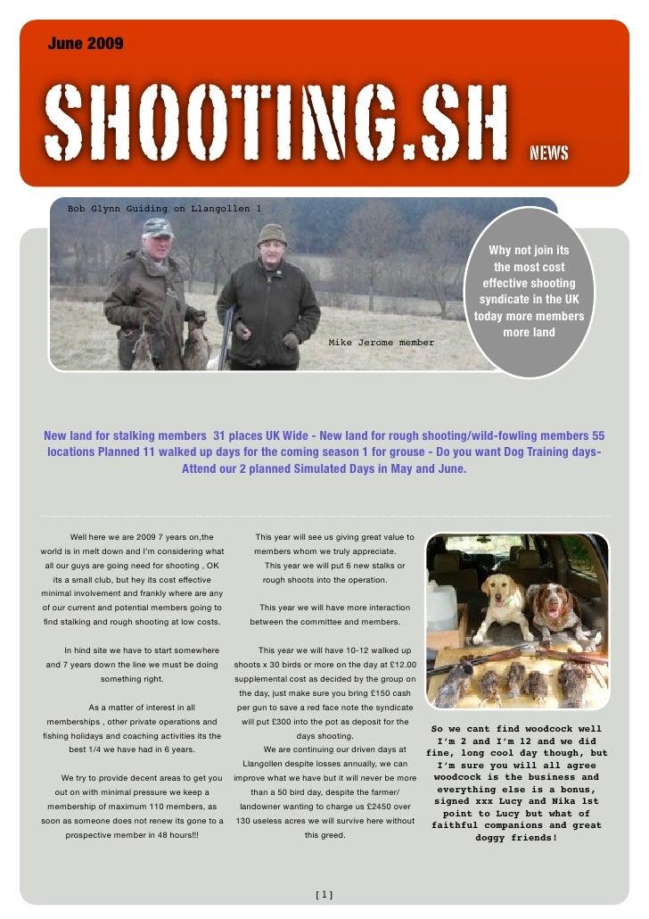 Sh Newsletter June 2009