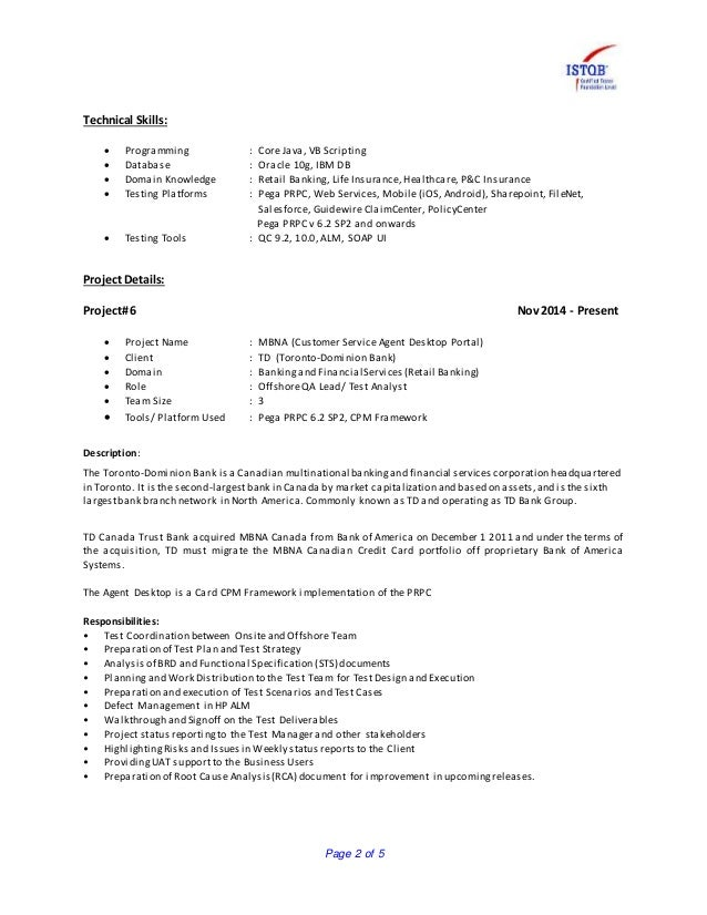 Guidewire Business Analyst Resume Resume Of Tapas Biswas