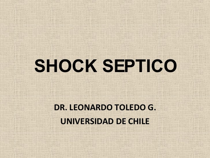 Shock Septico Dr Toledo