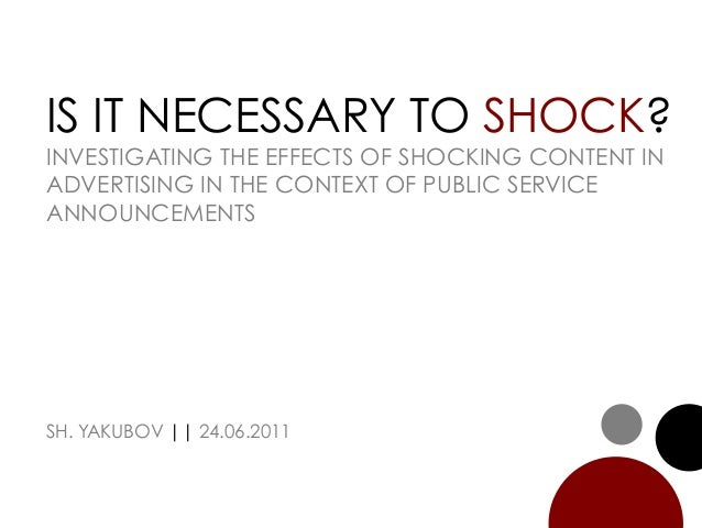 Shock Advertising (Research)