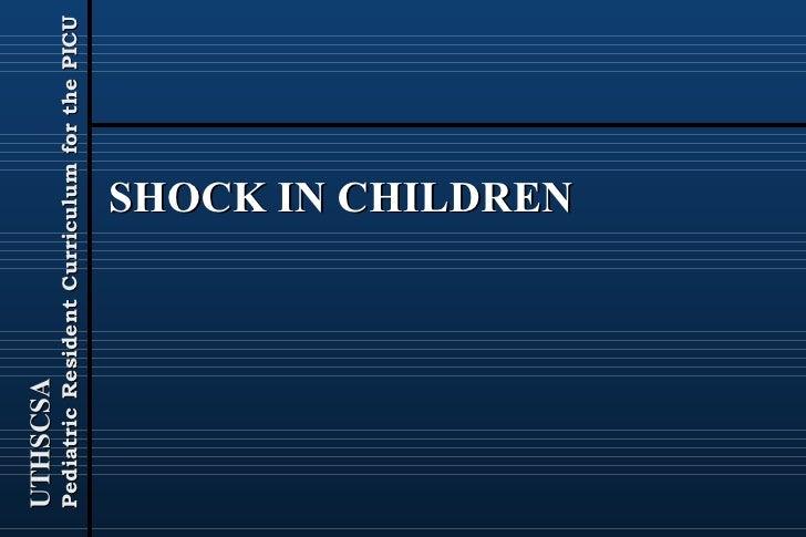 SHOCK IN CHILDREN