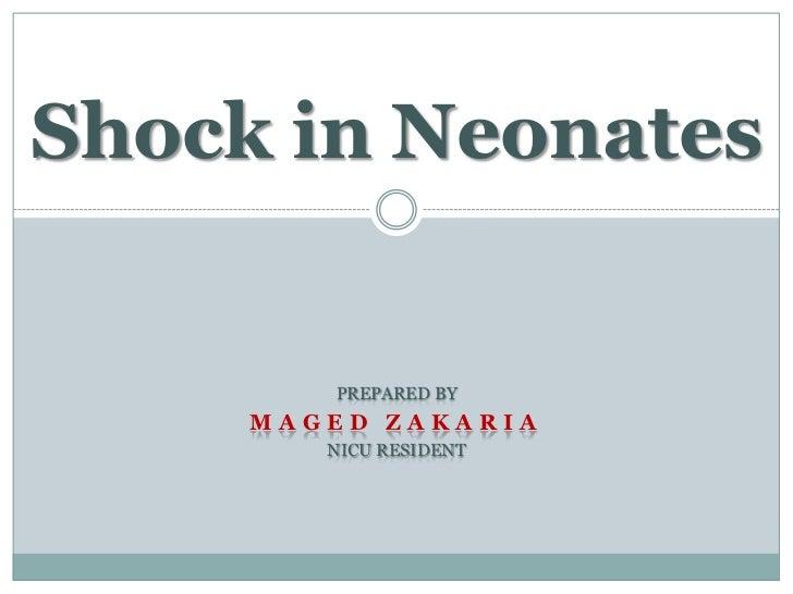 Shock in Neonates