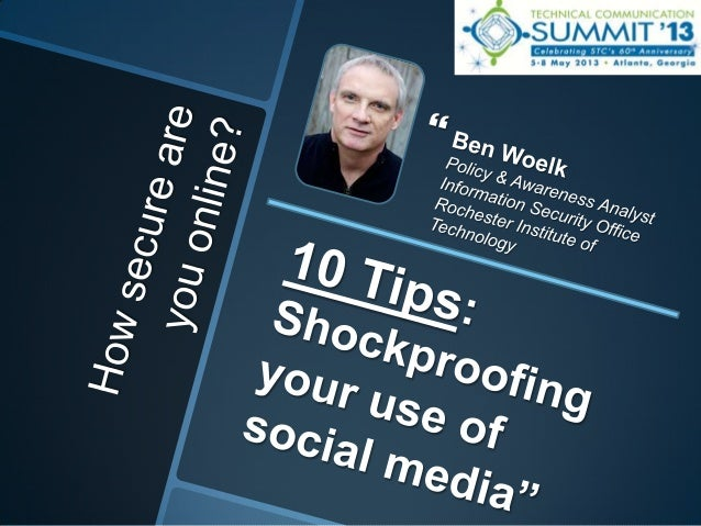 Shockproofing Your Use of Social Media (professional development progression)
