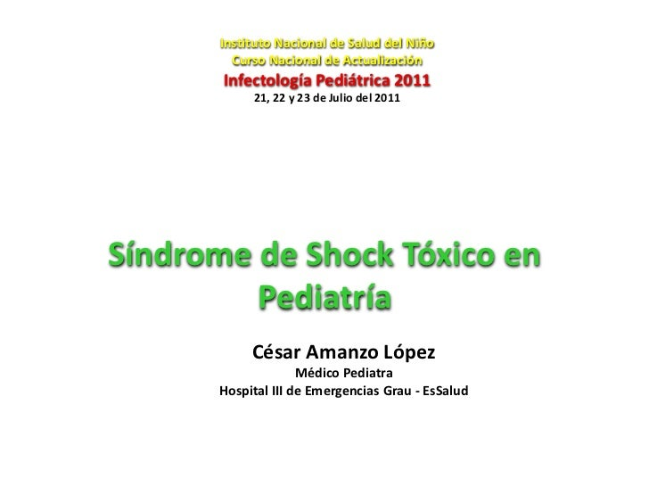 Shock tóxico pediatría_2011_isn