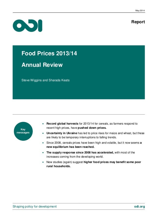 ODI - Food Prices Annual Review 2014