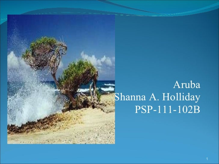 Aruba Shanna A. Holliday PSP-111-102B