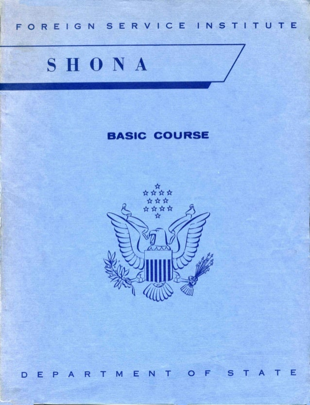 Learn Shona - FSI Basic Course