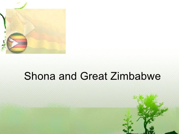Shona and Great Zimbabwe