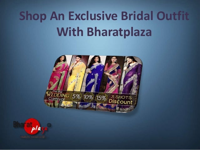 Shop an exclusive bridal outfit with bharatplaza