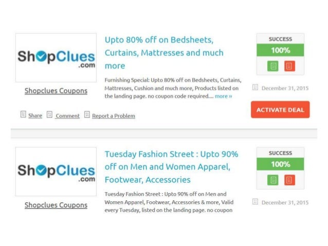 Shopclues coupons  - august 2015 coupon codes - promo code