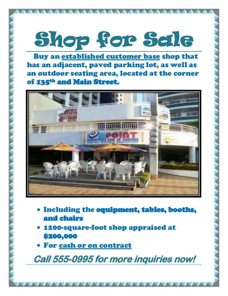 Shop for sale ( Ej Guevarra )
