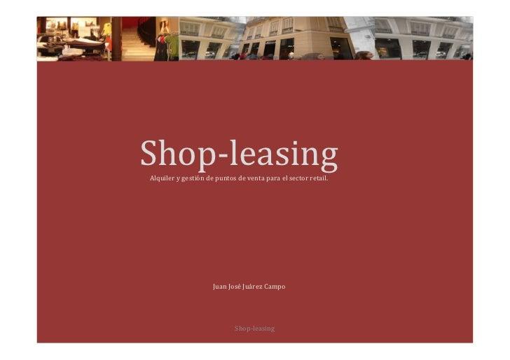 VinoEarth                 Shop-leasing             Alquiler y gestión de puntos de venta para el sector retail.           ...