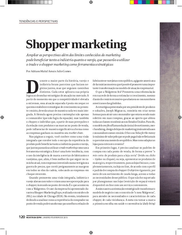 Tendências e Perspectivas      Shopper marketing      Ampliar as perspectivas além dos limites conhecidos do marketing    ...