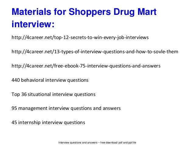 Shoppers drug mart resume template