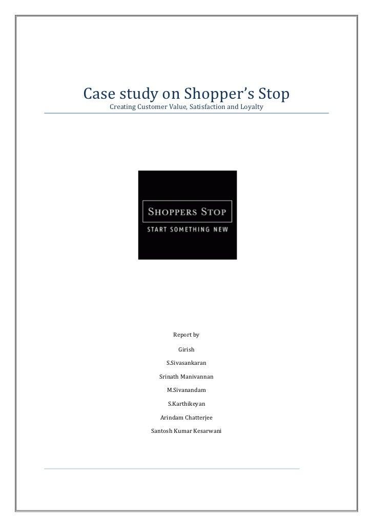 Shopper stop case study