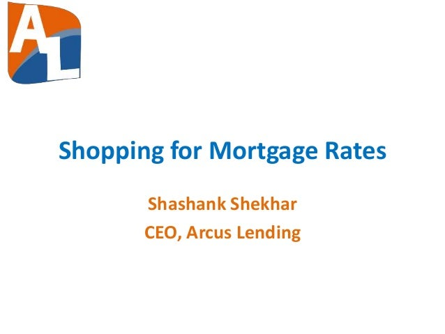 Shopping for mortgage rates